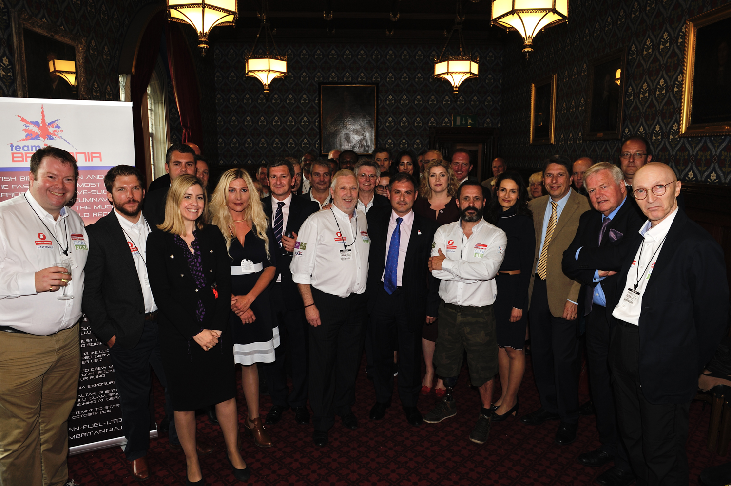 Team Britannia at the House of Commons